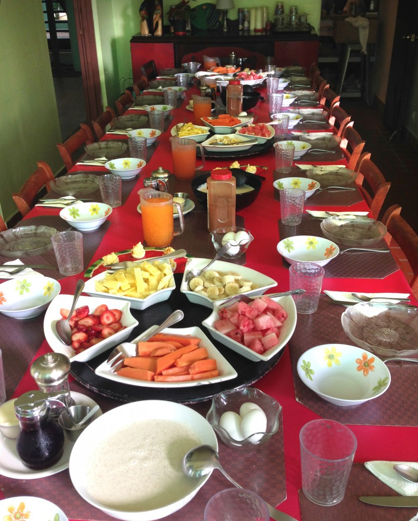 Casa Cubuy breakfast spread