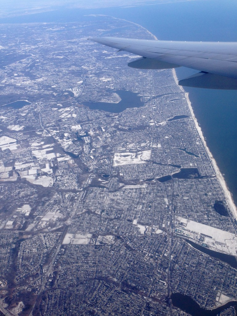 Leaving snowy NJ